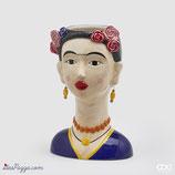 Vaso Frida blu con orecchini EDG