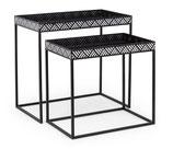 Set 2 tavolini nero/bianco