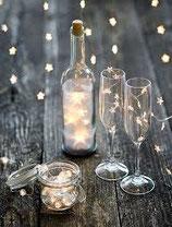 Bottiglia trasparente 10 luci.