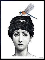 Vanilla Fly Cornice Lady With Bug