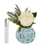 Baci Milano Vaso Tondo Mini Con Bouquet  | Turchese sconto 10%