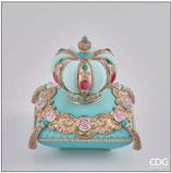 EDG Contenitore Corona Cuscino Azzurro
