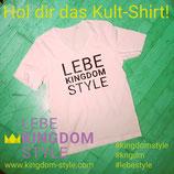 Shirt Lebe Kingdom Style schwarz-weiss