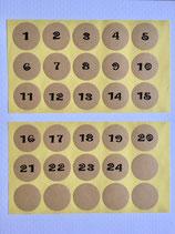 Packpapierklebis nummeriert