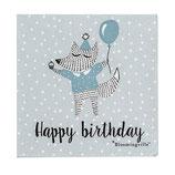 Servietten happy birthday blau