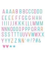Lightbox Zubehörset ABC Pastell Buchstaben und Tiere