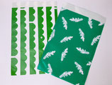 Geschenkbeutel Papier, Grün