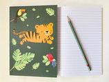 Liniertes Schreibheft Dschungel