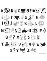 Lightbox Zubehörset ABC schwarz Buchstaben und Tiere