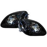 BENZ SLK R170ハロゲン車用クリスタルブラックヘッドライト 26
