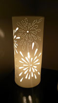"""Porzellanlampe Zylinder """"Feuerwerk"""""""