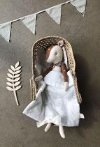 Musselin Puppenbettwäsche von Lilli-Marleen