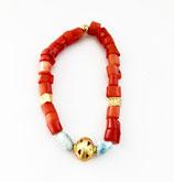 EL DORADO Larimar-Korallen Armband