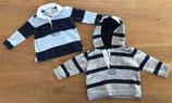 Shirt + Hoody // Ralph Lauren // Größe 68 // Jungen // blau grau gestreift