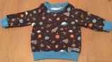 """Sweatshirt """"Weltraumforscher"""" // Wunschgröße 44 bis 134 möglich // Größe 74 sofort lieferbar"""