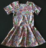Drehkleid / Kleid mit Tellerrock / kurzarm / Auswahlstoff / Wunschgröße 44 bis 134