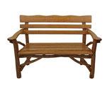 Gartenbank 2-Sitzer Holz Eiche + Buche massiv  128cm
