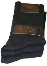 Herren Socken Strümpfe 3er Pack in schwarz