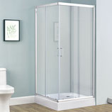 Duschkabine Echtglas mit Schiebetüren 90 x 90 cm