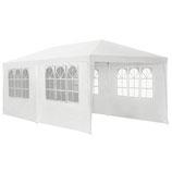 Pavillon Partyzelt 3x6 m mit Seitenwänden in weiß