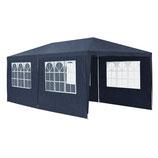 Pavillon Partyzelt 3x6m mit Seitenwänden in blau