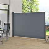 Seitenmarkise anthrazit für Terrasse, Balkon und Garten 200x300cm