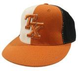 Baseball Cap mit gesticktem Schriftzug in orange-weiß