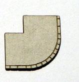 Bogen Bürgersteig in geteerter Ausführung mit Bordstein