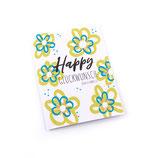 """Happy Glückwunsch """"Blumen"""""""