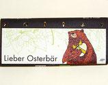 Lieber Osterbär / Schokobiene mit Honigblättchen