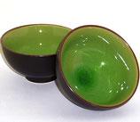 Matcha-Schale 'schwarz-grün'