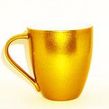 Jumbo-Tasse 'Metalico' gold