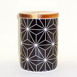 Porzellan-Teedose 'Kaleidoscope black' - Gr. 3