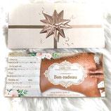 Bons cadeaux forfait sérénité massage 1h30 + reiki