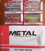 BOX OF 16 TOY BUSES