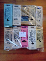 Selection of ticket blocks.  Genuine