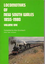 Locomotives of NSW 1855-1980 vol 1 by Alex Grunbach. as new condition