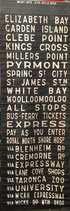 Genuine Sydney Bus destination roll from the 1960s  item 15