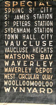Genuine Sydney Bus destination roll from the 1960s  item 4