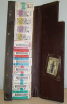 Conductor's Ticket Case - filled with paper tickets