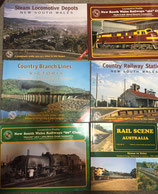 Train Hobby Publications:  wide range. all books in as new condition
