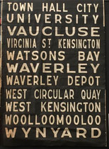 Genuine Sydney Bus destination roll from the 1960s  item 13
