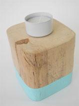 --TURKIS I-- Teelichthalter aus Treibholz