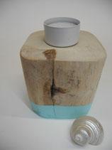 --TURKIS-- Teelichthalter aus Treibholz