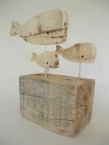 --FAMILLE DE BALEINES-- Skulptur