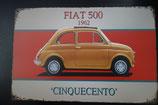 """Blechschild """"Fiat 500"""" 30 x 20 cm"""
