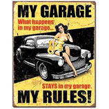 "Blechschild ""My Garage my Rules"" 30 x 20 cm"