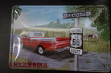 "Blechschild ""Route 66"" 30 x 20 cm"