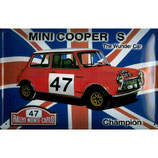 """Blechschild """"Mini Cooper S"""" 30 x 20 cm"""