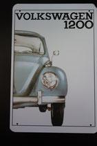 """Blechschild """"Volkswagen 1200"""" 30 x 20 cm"""